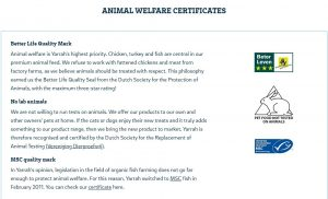 Yarrah Certificados-animalwellfare