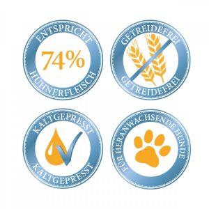 comida cão frango junior natural saudável sem cereais prensada a frio