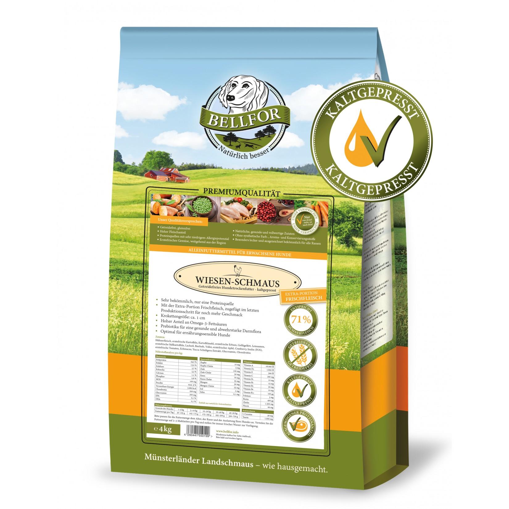 comida cão frango natural saudável sem cereais prensada a frio