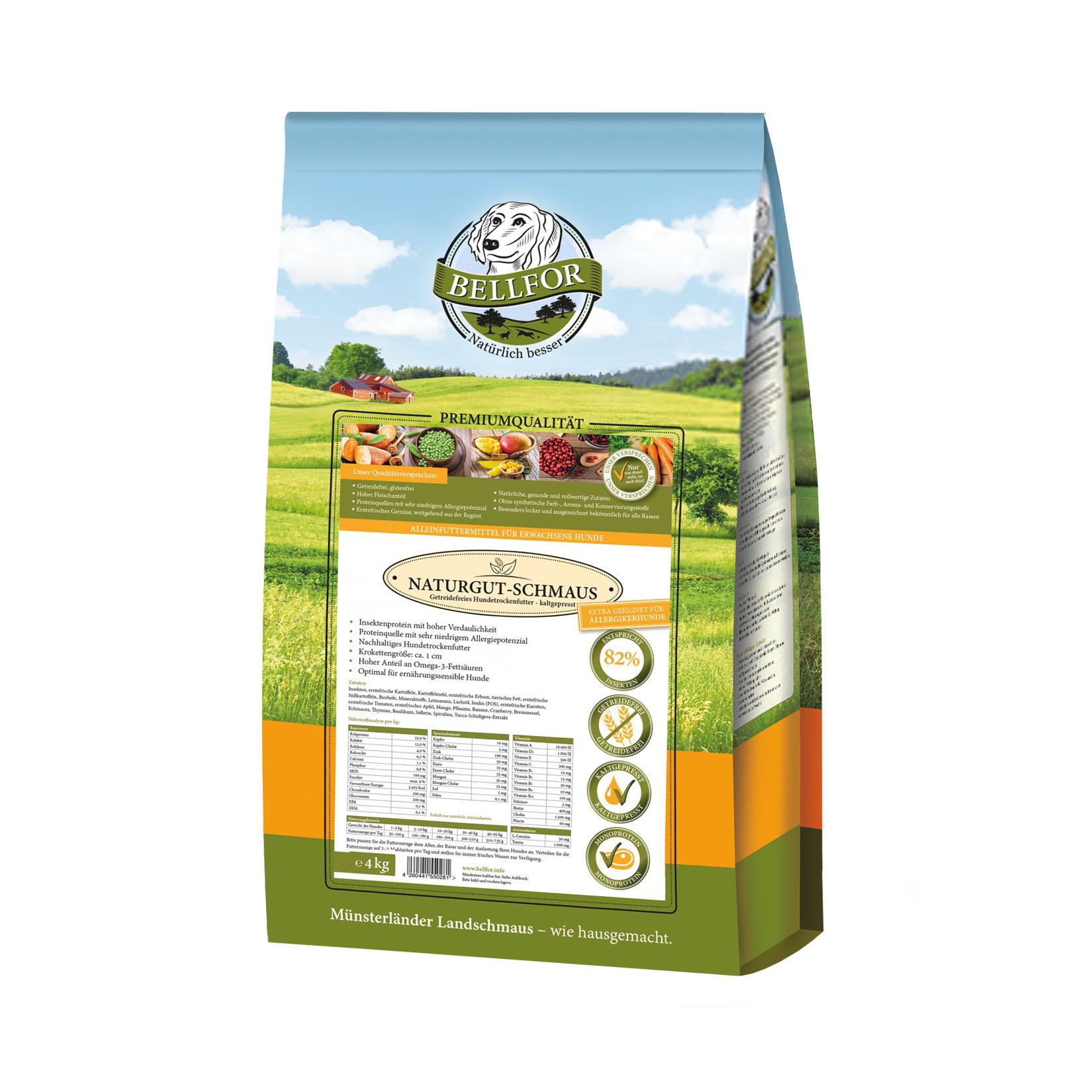 comida cão insecto natural saudável sem cereais prensada a frio