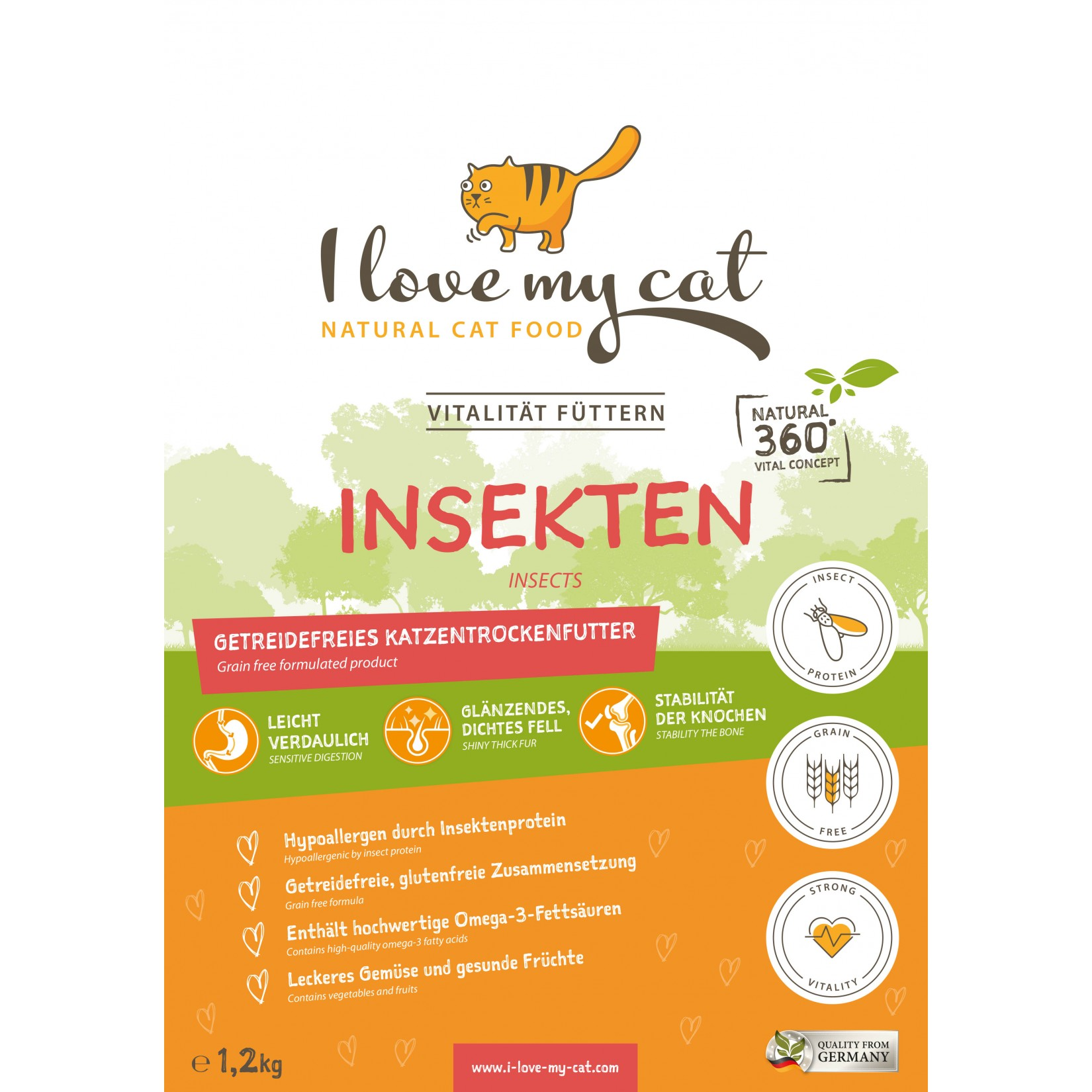 comida gato seca insecto natural saudável sem cereais