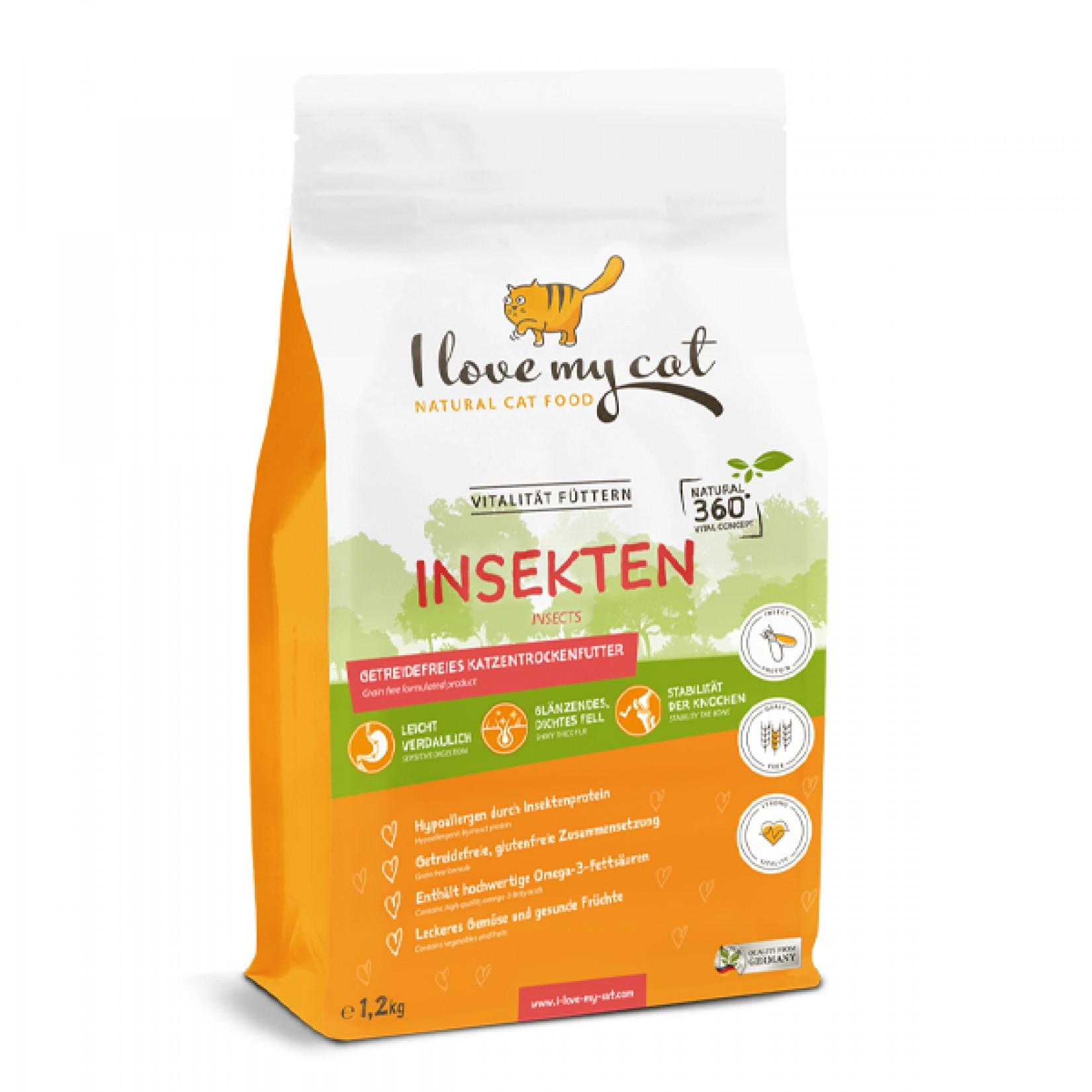 comida gato seca i love my cat insecto natural saudável sem cereais