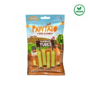 tubos algas marinhas snack vegano para cão